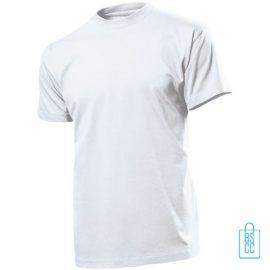T-Shirt Heren Ronde Hals bedrukken wit