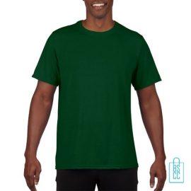 T-Shirt Heren Sport Lang bedrukken groen