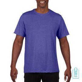 T-Shirt Heren Sport Lang bedrukken paars