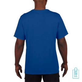 T-Shirt Heren Sport Lang bedrukt blauw
