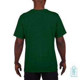 T-Shirt Heren Sport Lang bedrukt groen