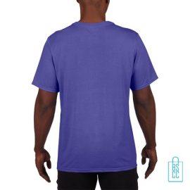 T-Shirt Heren Sport Lang bedrukt paars