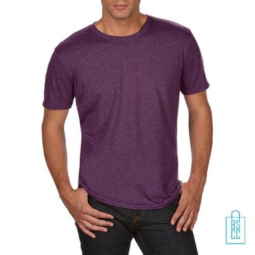 T-Shirt Heren Trendy bedrukken aubergine
