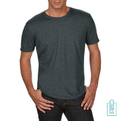 T-Shirt Heren Trendy bedrukken donkergroen