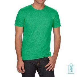 T-Shirt Heren Trendy bedrukken groen