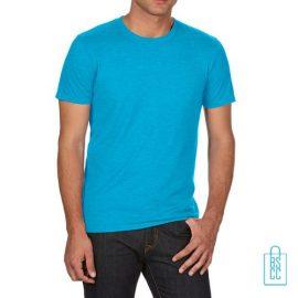 T-Shirt Heren Trendy bedrukken lichtblauw