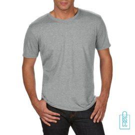 T-Shirt Heren Trendy bedrukken lichtgrijs