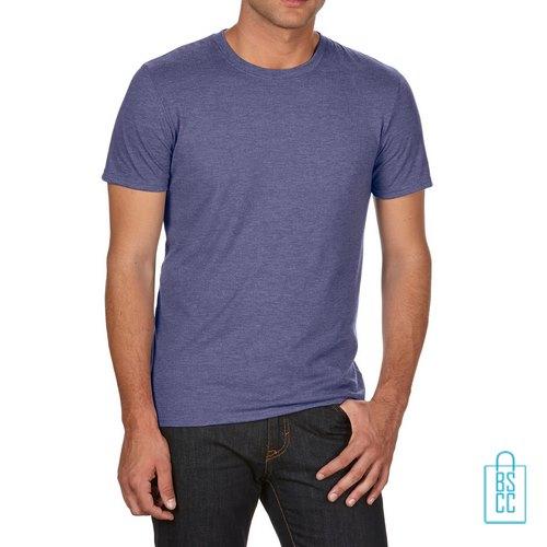T-Shirt Heren Trendy bedrukken lila