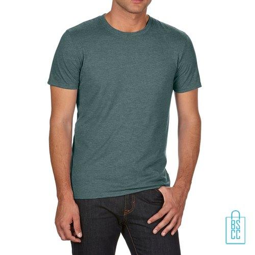 T-Shirt Heren Trendy bedrukken militairgroen