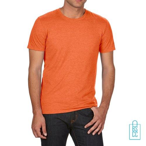 T-Shirt Heren Trendy bedrukken oranje