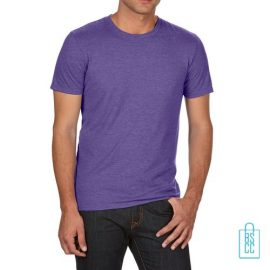 T-Shirt Heren Trendy bedrukken paars