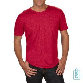 T-Shirt Heren Trendy bedrukken rood