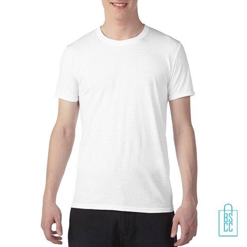 T-Shirt Heren Trendy bedrukken wit