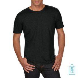 T-Shirt Heren Trendy bedrukken zwart