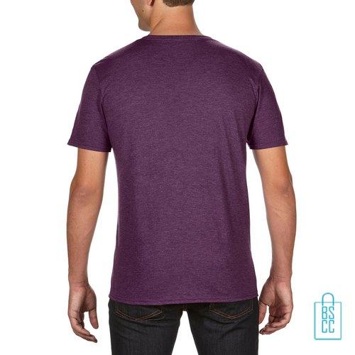 T-Shirt Heren Trendy bedrukt aubergine