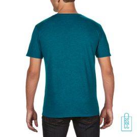 T-Shirt Heren Trendy bedrukt blauwgroen