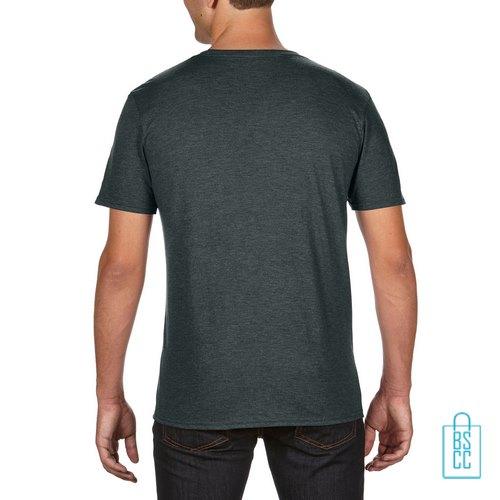 T-Shirt Heren Trendy bedrukt donkergroen