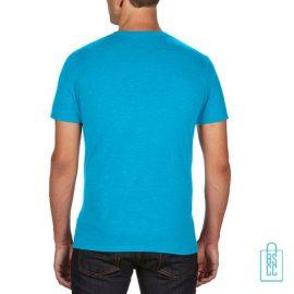 T-Shirt Heren Trendy bedrukt lichtblauw