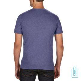 T-Shirt Heren Trendy bedrukt lila