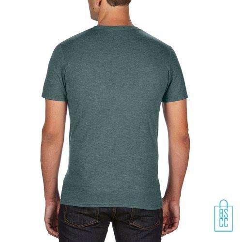 T-Shirt Heren Trendy bedrukt militairgroeb