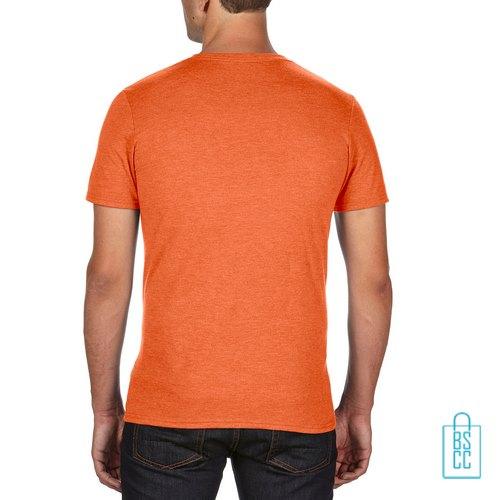 T-Shirt Heren Trendy bedrukt oranje