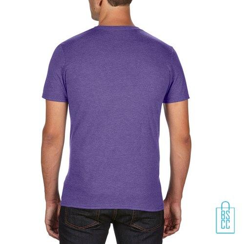 T-Shirt Heren Trendy bedrukt paars