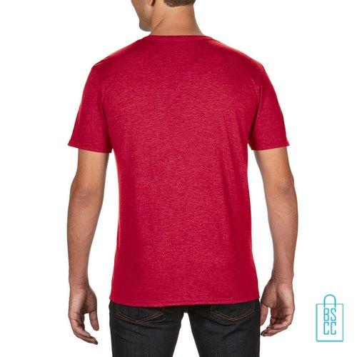 T-Shirt Heren Trendy bedrukt rood