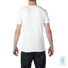 T-Shirt Heren Trendy bedrukt wit