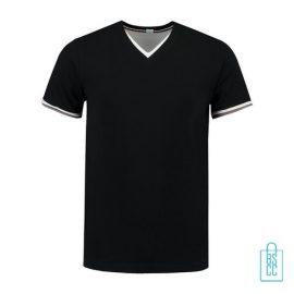 T-Shirt Heren V-Hals Biesje bedrukken zwart, v-hals bedrukt, bedrukte v-hals met logo