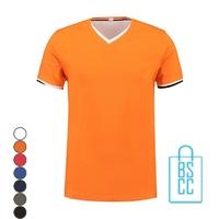 T-Shirt Heren V-Hals Biesje bedrukken, v-hals bedrukt, bedrukte v-hals met logo