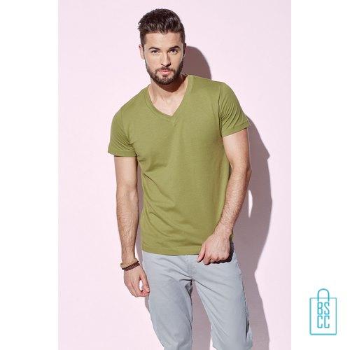 T-Shirt Heren V-Hals Biologisch Katoen bedrukken goedkoop, v-hals bedrukt, bedrukte v-hals met logo