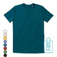 T-Shirt Heren V-Hals Biologisch Katoen bedrukken, v-hals bedrukt, bedrukte v-hals met logo
