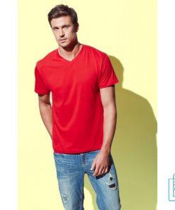 T-Shirt Heren V-Hals Budget bedrukken goedkoop, v-hals bedrukt, bedrukte v-hals met logo