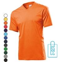 T-Shirt Heren V-Hals Budget bedrukken, v-hals bedrukt, bedrukte v-hals met logo