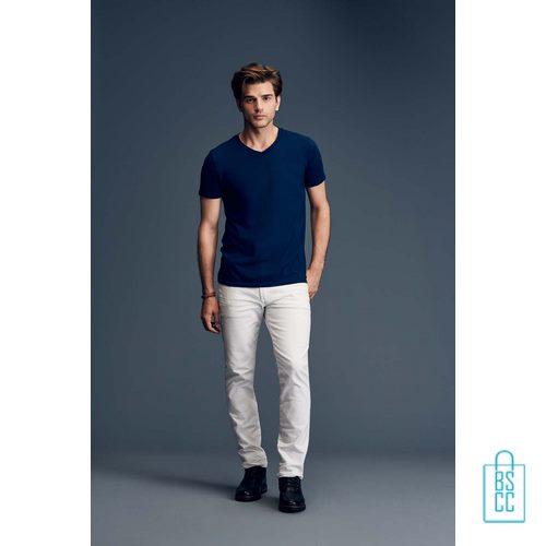 T-Shirt Heren V-Hals Casual bedrukken met logo, v-hals bedrukt, bedrukte v-hals met logo