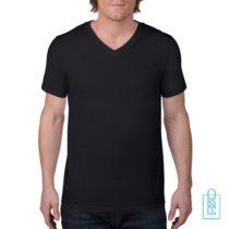 T-Shirt Heren V-Hals Casual bedrukken wit, v-hals bedrukt, bedrukte v-hals met logo