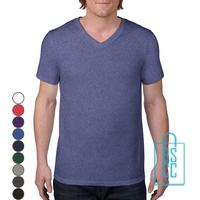 T-Shirt Heren V-Hals Casual bedrukken, v-hals bedrukt, bedrukte v-hals met logo