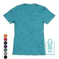T-Shirt Heren V-Hals Poly Katoen bedrukken, v-hals bedrukt, bedrukte v-hals met logo