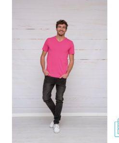 T-Shirt Heren V-Hals Premium bedrukt, v-hals bedrukt, bedrukte v-hals met logo