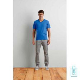 T-Shirt Heren V-Hals Tee bedrukken met logo, v-hals bedrukt, bedrukte v-hals met logo