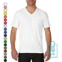T-Shirt Heren V-Hals Tee bedrukken, v-hals bedrukt, bedrukte v-hals met logo
