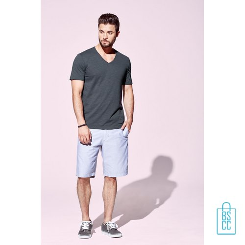 T-Shirt Heren V-Hals Trendy bedrukken goedkoop, v-hals bedrukt, bedrukte v-hals met logo