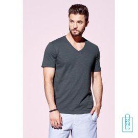 T-Shirt Heren V-Hals Trendy bedrukken met logo, v-hals bedrukt, bedrukte v-hals met logo