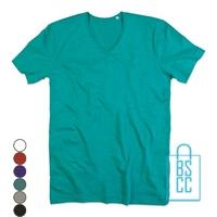 T-Shirt Heren V-Hals Trendy bedrukken, v-hals bedrukt, bedrukte v-hals met logo
