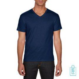 T-Shirt Heren V-hals Goedkoop bedrukken blauw, v-hals bedrukt, bedrukte v-hals met logo