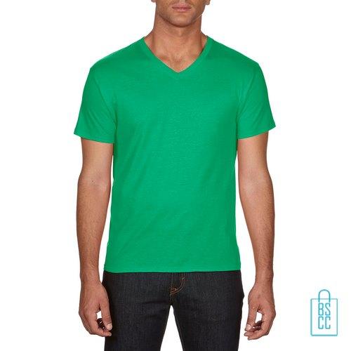 T-Shirt Heren V-hals Goedkoop bedrukken groen, v-hals bedrukt, bedrukte v-hals met logo
