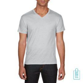 T-Shirt Heren V-hals Goedkoop bedrukken lichtgrijs, v-hals bedrukt, bedrukte v-hals met logo