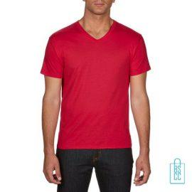 T-Shirt Heren V-hals Goedkoop bedrukken rood, v-hals bedrukt, bedrukte v-hals met logo