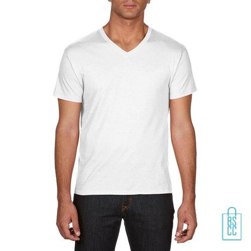 T-Shirt Heren V-hals Goedkoop bedrukken wit, v-hals bedrukt, bedrukte v-hals met logo
