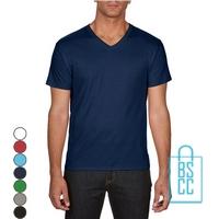 T-Shirt Heren V-hals Goedkoop bedrukken, v-hals bedrukt, bedrukte v-hals met logo